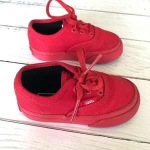 Vans Toddler Authentic Skate Shoes Red